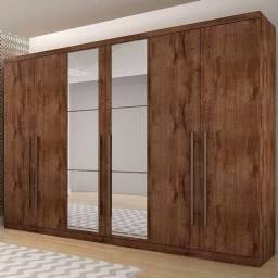 Guarda roupa 6 portas casal com espelho novo na caixa