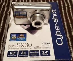 Câmera Sony Cyber-Shot DSC-S930 + Carregador + Pilhas Recarregáveis