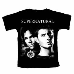 Camiseta Supernatural seriado filmes C30 Original