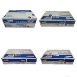 Lote com 4 Toner Samsung CLP 660B Original Novo