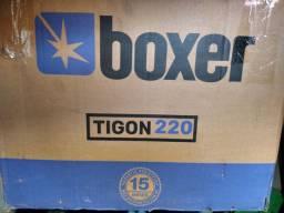 Solda Boxer tigon 220 com cilindro de argônio puro e kit de gaslens top. Solda tig.