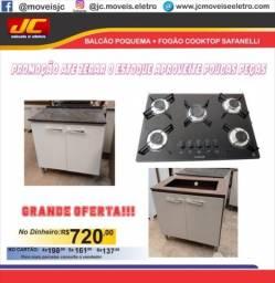 Balcão com fogão cooktop promoção faça já seu orçamento