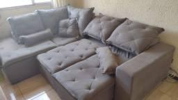 Título do anúncio: Sofá retrátil e reclinável com chaise - cinza