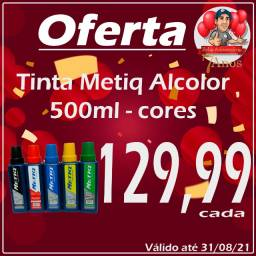 Tinta Metiq Alcolor Preta 500ml