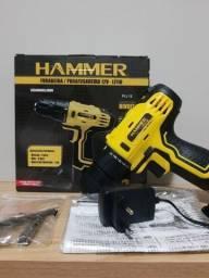Título do anúncio: Parafusadeira e Furadeira Hammer 12V, NOVA, NUMCA USADA.
