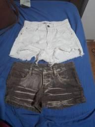 2 shorts  jeans para venda