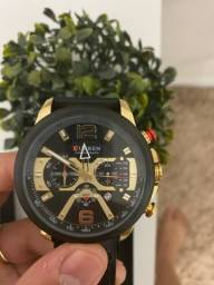 Relógio Curren preto/gold