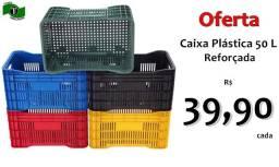 Título do anúncio: Caixa Plástica 50 Litros Reforçada várias cores