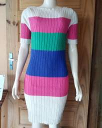 Vestido em tricot Canelado