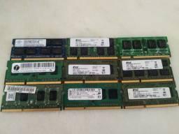 MEMORIA RAM DDR3 E DDR2 DE 4GB E 2GB ( USADAS )