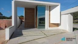 Casa Plana c/3 suites à venda, rua privativa, 140 m² por R$ 455.000 -Eusébio/CE