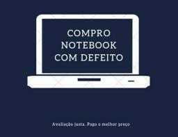 C.o.m.p.r.o notebook com defeito