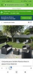Título do anúncio: Conjunto externo(novo)sofá poltrona e mesa de centro