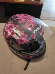 Título do anúncio: Capacete para moto Peels Spike Blosson rosa tamanho 56