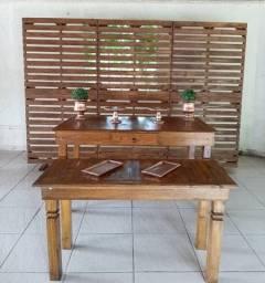 Título do anúncio: Locação kit Rustico/Pallet/Armários/Porcelanas
