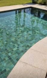 Título do anúncio: Revestimento Para Piscina Pedra Acqua Verde Natural 10x10cm Quartzito Promoção DoMeuGosto