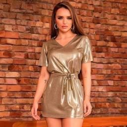 Vestido Pitbull dourado