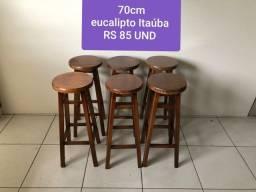Título do anúncio: Banquetas 70cm eucalipto Itaúba