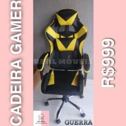 Cadeira gamer amarela 999 cadeira
