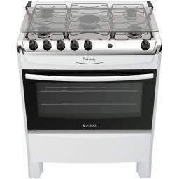 fogão fast Cook 5 bocas automático com  luz no forno