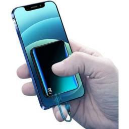 Título do anúncio: Chega de ficar na mão sem bateria com seu celularCarregador Portátil 12.000 MAH $ 49,99