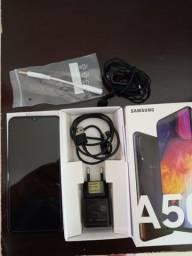 Samsung A50 64GB Impecável com todos acessórios