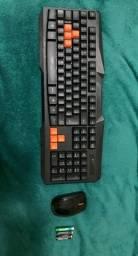 Conjunto Teclado gamer com mouse KNUP