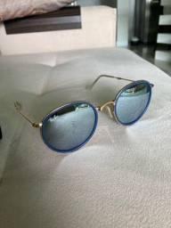 Título do anúncio: Óculos de sol espelhado azul Rayban