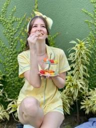 Pijama Vichy Amarelo Afeto Costura