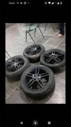 Título do anúncio: Vendo ou troco rodas 17 furacão 4x100