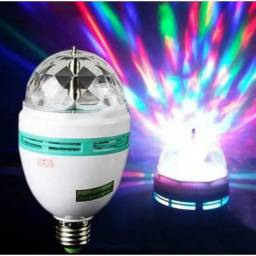 Lâmpada Globo Luz Led Rgb Giratória Colorida com Socket Padrão