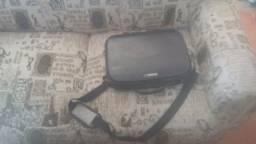 Notebook kompag antigo com estojo.