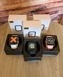 Smartwatch t500 iwo rose preto e branco