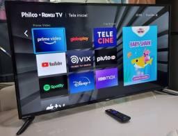 """Título do anúncio: Tv smart Philco Roku 43"""" Polegadas Full HD- HDR- Disney Plus -impecável -controle original"""
