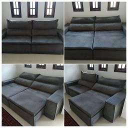 Título do anúncio: Sofá cinza retrátil e reclinável