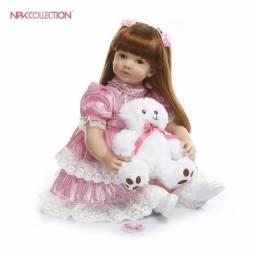 Bebê reborn princesa 60cm com entrega grátis*