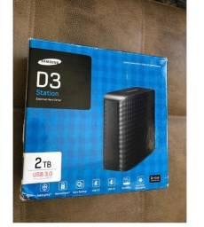 Hd Externo Samsung D3 Station. 2 Tb. Usb 3.0. Compatível 2.0