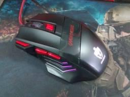 Mouse Gamer 1600Dpi Evolut Eg-101 Óptico 7 Botões Preto Entrego em Maringá passo cartão