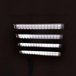 Luminária de embutir com 4 lâmpadas