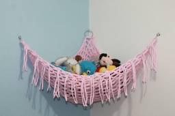 Rede de croche para brinquedos