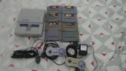 Super Nintendo muito conservado