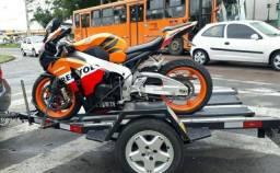 Aluguel de carretinha pra transporte de moto