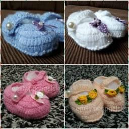 Sapatinhos de crochê e tricô para bebês!!!