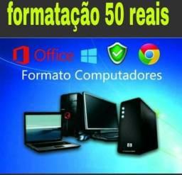 Manutenção e formatado 50 reais