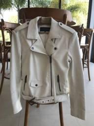 Jaqueta de couro Ellus branca
