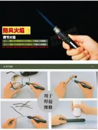 Maçarico Portátil Caneta lápis 1300 graus gás butano recarregável soldagem esqueiro