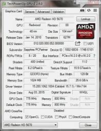 Placa Radeon 5670 - 1Gb GDDR3