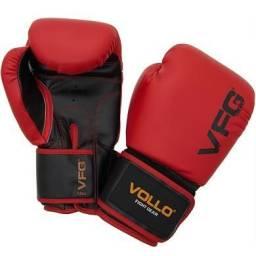 Luva De Boxe Muay Thai Vollo 12 oz Vermelha