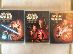 Dvds duplo trilogia Star Wars novos