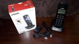 Telefone S/ Fio Vtech Vt680 c/ identificador de chamadas NOVO